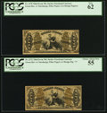 Fractional Currency:Third Issue, Fr. 1370 50¢ Third Issue Justice PCGS New 62;. Fr. 1372 50¢ Third Issue Justice PCGS Choice About New 55.. ... (Total: 2 notes)