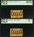 Fractional Currency:First Issue, Fr. 1279 25¢ First Issue PCGS Choice About New 58;. Fr. 1282 25¢ First Issue PCGS Choice About New 58PPQ;. ... (Total: 2 notes)