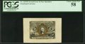 Fractional Currency:Second Issue, Fr. 1232SP 5¢ Second Issue Wide Margin Face PCGS Choice About New 58.. ...