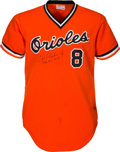 Baseball Collectibles:Uniforms, 1983 Cal Ripken, Jr. Game Worn & Signed Baltimore Orioles Jersey, MEARS A10--MVP & World Championship Season!...