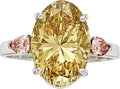 Estate Jewelry:Rings, Fancy Deep Brownish Yellow Diamond, Colored Diamond, White GoldRing. ...