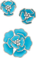 Estate Jewelry:Suites, Turquoise, Diamond, White Gold Jewelry Suite . ... (Total: 2 Items)