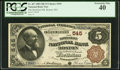 National Bank Notes:Massachusetts, Boston, MA - $5 1882 Brown Back Fr. 467 The Boylston NB Ch. # 545. ...