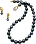 Estate Jewelry:Suites, South Sea Cultured Pearl, Cultured Pearl, Diamond, Gold Jewelry. ...