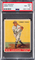 Baseball Cards:Singles (1930-1939), 1933 Goudey Jimmy Foxx #29 PSA NM-MT 8 - None Higher....