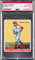 Baseball Cards:Singles (1930-1939), 1933 Goudey Jimmy Foxx #154 PSA NM-MT 8 - None Higher....