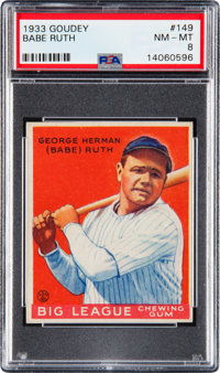 1933 Goudey Babe Ruth #149 PSA NM-MT 8