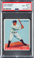 Baseball Cards:Singles (1930-1939), 1933 Goudey Lou Gehrig #160 PSA NM-MT+ 8.5 - Pop Two, TwoHigher....