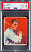 Baseball Cards:Singles (1930-1939), 1933 Goudey Mel Ott #207 PSA NM-MT 8 - Only One Higher....
