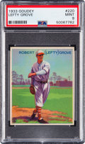 Baseball Cards:Singles (1930-1939), 1933 Goudey Lefty Grove #220 PSA Mint 9 - Pop Five, None Higher....