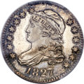 Bust Dimes, 1827 10C Pointed Top 1, JR-6, R.2, MS64+ PCGS. CAC....