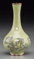 Asian:Japanese, A Japanese Cloisonné on Silver Diminutive Bottle Vase, MeijiPeriod, circa 1868-1912. Marks: Studio mark. 3-3/4 inches high ...