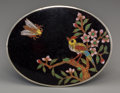 Asian:Chinese, A Chinese Cloisonné Belt Buckle, early Republic Period. 2-1/8inches high x 2-3/4 inches wide (5.4 x 7.0 cm). ...