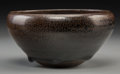 Asian:Chinese, A Chinese Oil Spot Glazed Bowl, Qing Dynasty. 2-1/2 inches high x 5inches diameter (6.4 x 12.7 cm). ...