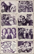 "Movie Posters:Western, Throw a Saddle on a Star & Others Lot (Columbia, 1946). LobbyCard Set of 8 & Lobby Cards (8) (11"" X 14""). Western.. ...(Total: 16 Items)"