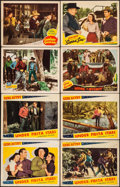 "Movie Posters:Western, Under Fiesta Stars & Others Lot (Republic, 1941). Lobby Cards(8) (11"" X 14""). Western.. ... (Total: 8 Items)"