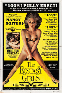 """The Ecstasy Girls & Others Lot (Leisure Time Booking, 1980). One Sheets (4) (27"""" X 41"""", 23"""" X 36.25&q..."""