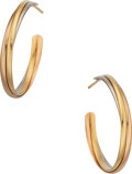 Estate Jewelry:Earrings, Gold Earrings, Cartier, French. ...