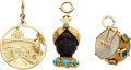 Estate Jewelry:Pendants and Lockets, Multi-Stone, Gold Charms. ... (Total: 3 Items)