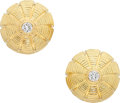 Estate Jewelry:Earrings, Diamond, Gold Earrings, Schlumberger for Tiffany & Co.. ...