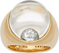 Estate Jewelry:Rings, Diamond, Rock Crystal Quartz, Gold Ring, Mauboussin . ...