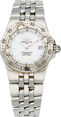 Estate Jewelry:Watches, Breitling Lady's Mother-of-Pearl, Stainless Steel Starliner Watch. ...