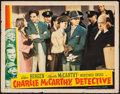 "Movie Posters:Comedy, Charlie McCarthy, Detective (Universal, 1939). Lobby Card (11"" X14""). Comedy.. ..."