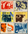 """Movie Posters:Crime, Angels with Dirty Faces & Others Lot (Dominant, R-1956). LobbyCards (5) & Title Lobby Card (11"""" X 14""""). Crime.. ... (Total: 6Items)"""