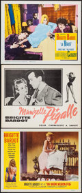 """Movie Posters:Foreign, The Night Heaven Fell & Others Lot (Kingsley International,1958). Lobby Cards (3) (11"""" X 14""""). Foreign.. ... (Total: 3 Items)"""