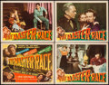 "Movie Posters:War, The Master Race (RKO, 1944). Title Lobby Card & Lobby Cards (3)(11"" X 14""). War.. ... (Total: 4 Items)"