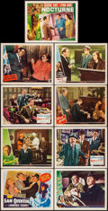 """Movie Posters:Film Noir, House of Strangers & Others Lot (20th Century Fox, 1949). LobbyCards (9) (11"""" X 14""""). Film Noir.. ... (Total: 9 It..."""
