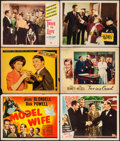 """Movie Posters:Comedy, Model Wife & Others Lot (Universal, 1941). Title Lobby Card& Lobby Cards (10) (11"""" X 14""""). Comedy.. ... (Total: 11 Item)"""