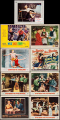 """Movie Posters:Crime, Pete Kelly's Blues & Others Lot (Warner Brothers, 1955). LobbyCards (9) (11"""" X 14""""). Crime.. ... (Total: 9 Items)"""