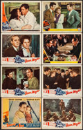 """Movie Posters:Adventure, Souls at Sea & Others Lot (Paramount, 1937). Trimmed Lobby Card(11"""" X 13.75"""") & Lobby Cards (7) (11"""" X 14""""). Adventure.. ...(Total: 8 Items)"""