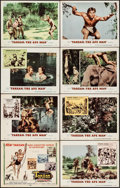 "Movie Posters:Adventure, Tarzan the Ape Man (MGM, 1959). Lobby Card Set of 8 (11"" X 14"").Adventure.. ... (Total: 8 Items)"