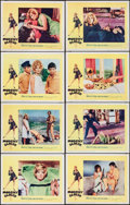 """Movie Posters:Thriller, Modesty Blaise (20th Century Fox, 1966). Lobby Card Set of 8 (11"""" X14""""). Thriller.. ... (Total: 8 Items)"""
