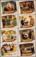 """Movie Posters:Crime, Blackmail & Other Lot (Republic, 1947). Fine/Very Fine. LobbyCard Set of 8 (11"""" X 14"""") & One Sheet (27"""" X 41""""). Crim..."""