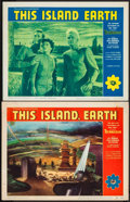 "Movie Posters:Science Fiction, This Island Earth (Universal International, 1955/R-1964). Lobby Cards (2) (11"" X 14""). Science Fiction.. ... (Total: 2 Items)"