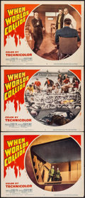 "Movie Posters:Science Fiction, When Worlds Collide (Paramount, 1951). Lobby Cards (3) (11"" X 14"").Science Fiction.. ... (Total: 3 Items)"