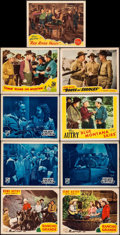 "Movie Posters:Western, Rancho Grande & Others Lot (Republic, R-1945). Lobby Cards (9)(11"" X 14""). Western.. ... (Total: 9 Items)"