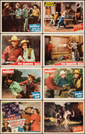 """Movie Posters:Western, Song of the Drifter & Others Lot (Monogram, 1948). Lobby Cards(62) (11"""" X 14""""). Western.. ... (Total: 62 Items)"""