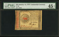 Colonial Notes:Continental Congress Issues, Continental Currency January 14, 1779 $45 PMG Choice Extremely Fine45 EPQ.. ...