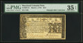 Colonial Notes:Maryland, Maryland March 1, 1770 $2/3 PMG Choice Very Fine 35 EPQ.. ...