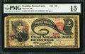 National Bank Notes:Pennsylvania, Franklin, PA - $2 1875 Fr. 391 The First NB Ch. # 189. ...