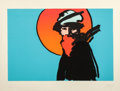 Fine Art - Work on Paper:Print, Peter Max (American, b. 1937). Poet. Screenprint in colors.20-1/2 x 30 inches (52.1 x 76.2 cm) (image). 26-1/2 x 35-3/4...