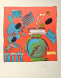 Fine Art - Work on Paper:Print, Peter Max (American, b. 1937). Composition Red, 1980.Lithograph in colors. 18-5/8 x 18-1/4 inches (47.3 x 46.4 cm)(ima...