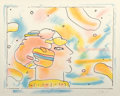 Fine Art - Work on Paper:Print, Peter Max (American, b. 1937). From Another Planet, 1980.Lithograph in colors. 18-1/4 x 23-1/2 inches (46.4 x 59.7 cm) ...