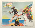 Fine Art - Work on Paper:Print, Peter Max (American, b. 1937). Runner and Flying Sage, 1982.Lithograph in colors. 18-1/2 x 23-3/4 inches (47.0 x 60.3 c...