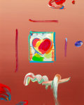 Works on Paper, Peter Max (American, b. 1937). Heart Series Version III, circa 2005. Acrylic and collage on paper. 10-1/2 x 8-1/2 inches...