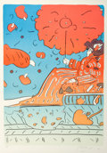 Fine Art - Work on Paper:Print, Peter Max (American, b. 1937). Umbrella Lady 15, circa 1979.Lithograph in colors. 25-7/8 x 18-1/2 inches (65.7 x 47.0 c...